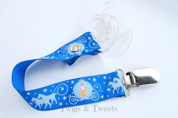 Cinderella Pacifier Clip - Love it!