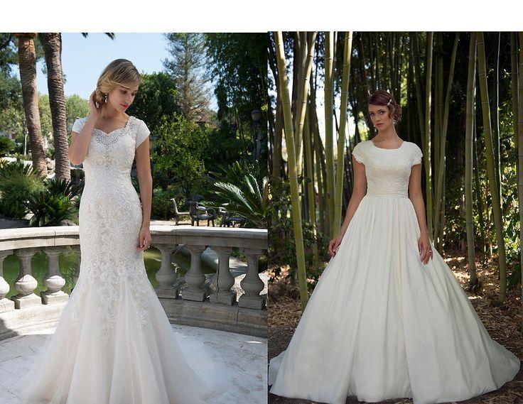 25 best a formal choice modest wedding dresses images on for Modest wedding dresses seattle