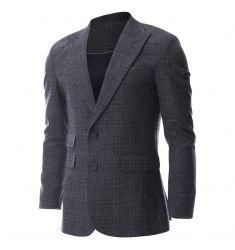 FLATSEVEN Men's Single 2 Button Plaid Check Pattern Blazer Jacket (BJ452) - Blazers #BLACKFRIDAY #CYBERMONDAY #MENS CLOTHING #MENS JACKET #MENS BLAZER #MENS FASHION #FASHION FOR MEN
