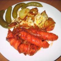 Картошка с сосисками