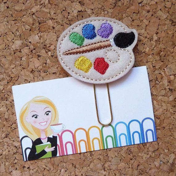 Felt Paint Paper Clip | Art Teacher Bookmark | Planner Clip | Refrigerator Magnet | Cute Brooch Pin |Organizer | Calendar |Planner Accessory