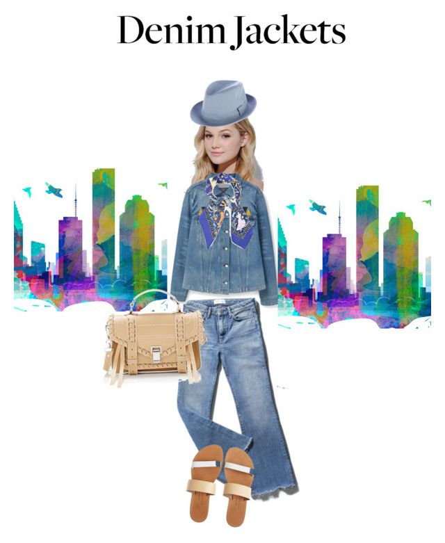Denim jackets by sarks on Polyvore featuring polyvore, fashion, style, MANGO, Isapera, Proenza Schouler, Hermès, Neutrogena, clothing, denimjackets and WardrobeStaples
