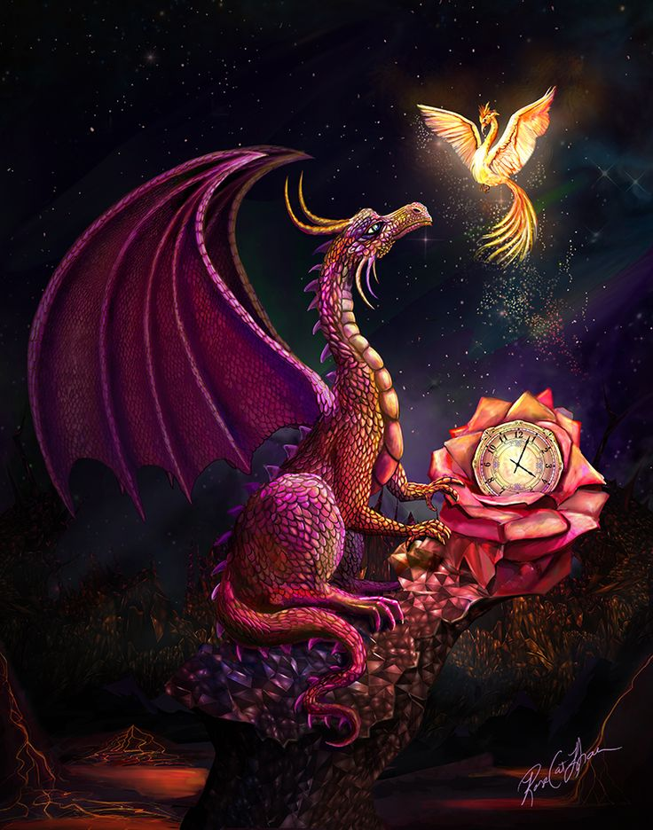 The Scarlet Rose Time Dragon by RoseCatKhan