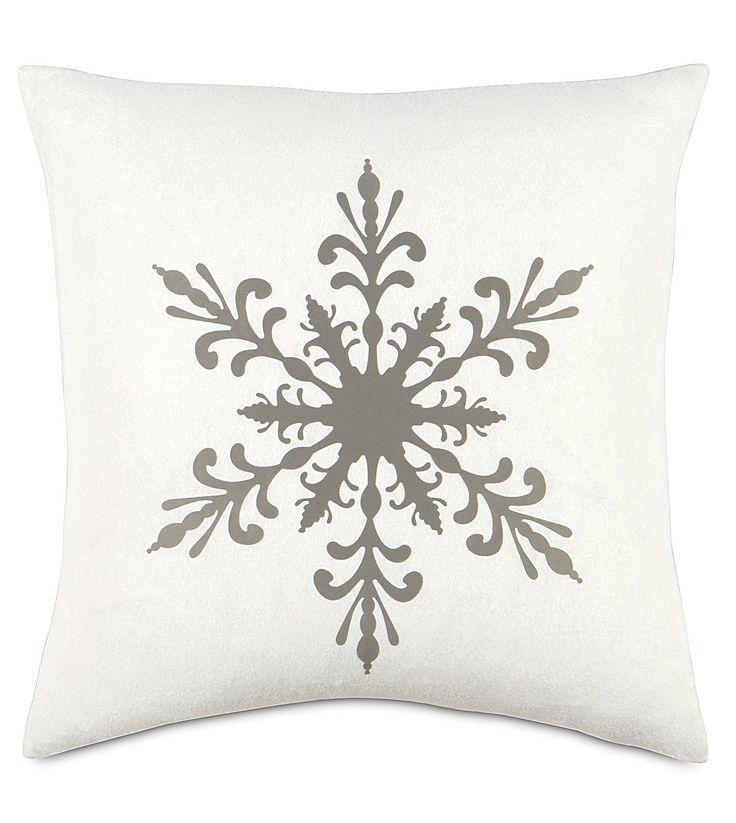 Gray Snow Down Pillow- 22x22