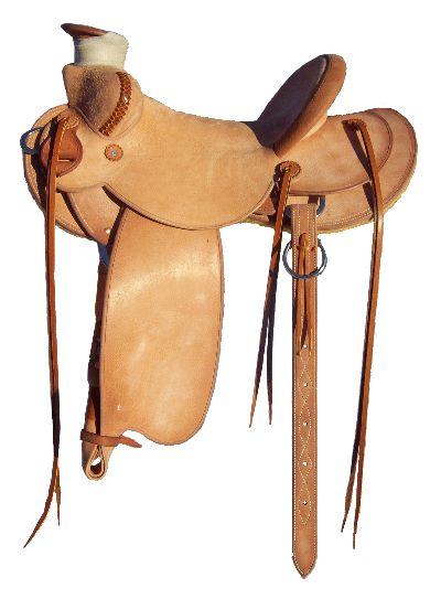Rough Out Cowboy Saddle - Handmade saddles by Sandhills Saddlery