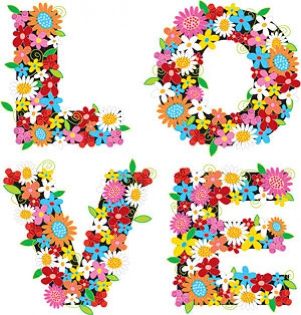a composição de flores coloridas, o amor material vector                                                                                                                                                                                 Mais