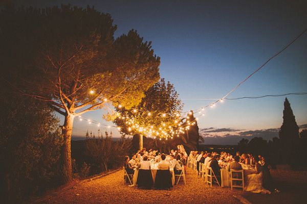 Intimate dinner and reception under sparkling globe lights. Want to do it for your wedding? We've got you covered! #azprorents www.azprorents.com 623.396.5356