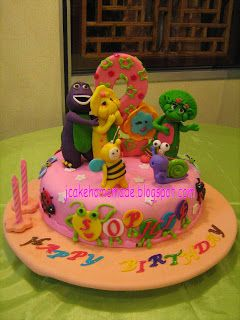 Jcakehomemade: Barney and friends theme cake