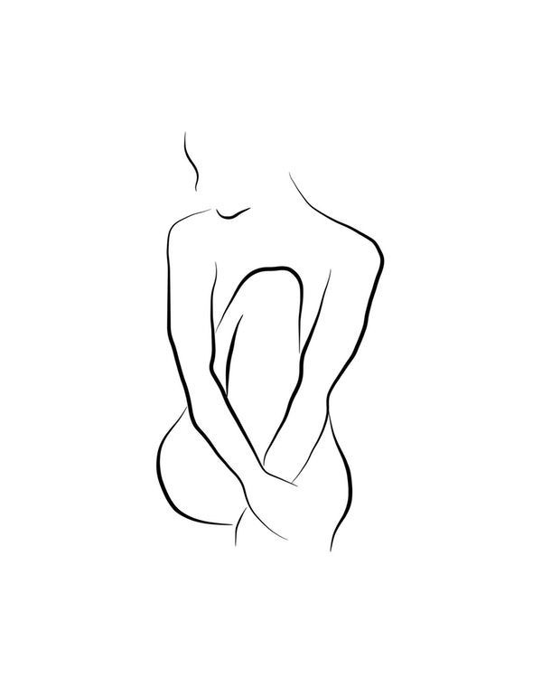 Beautiful Bella Wallpaper Beautiful Bella Wallpaper In 2020 Outline Art Silhouette Drawing Minimalist Drawing