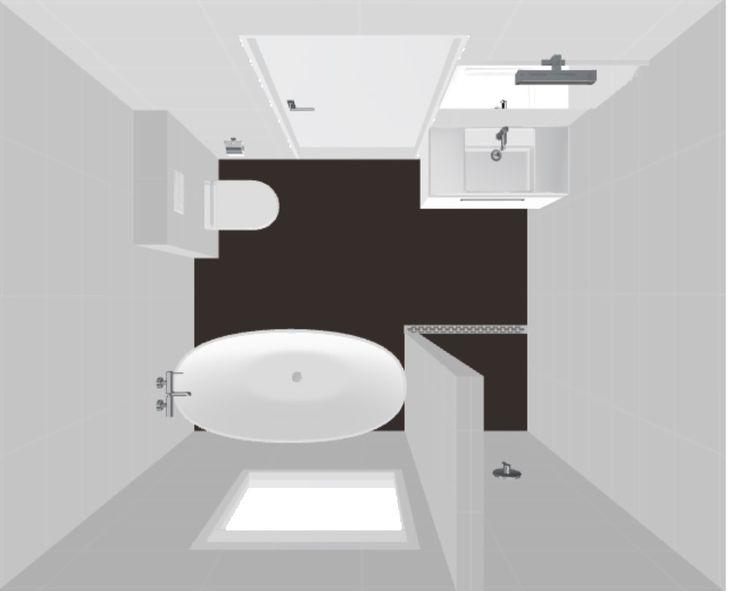 25 beste idee n over badkamerindeling op pinterest opruimidee n appartement badkamer - Kaart badkamer toilet ...