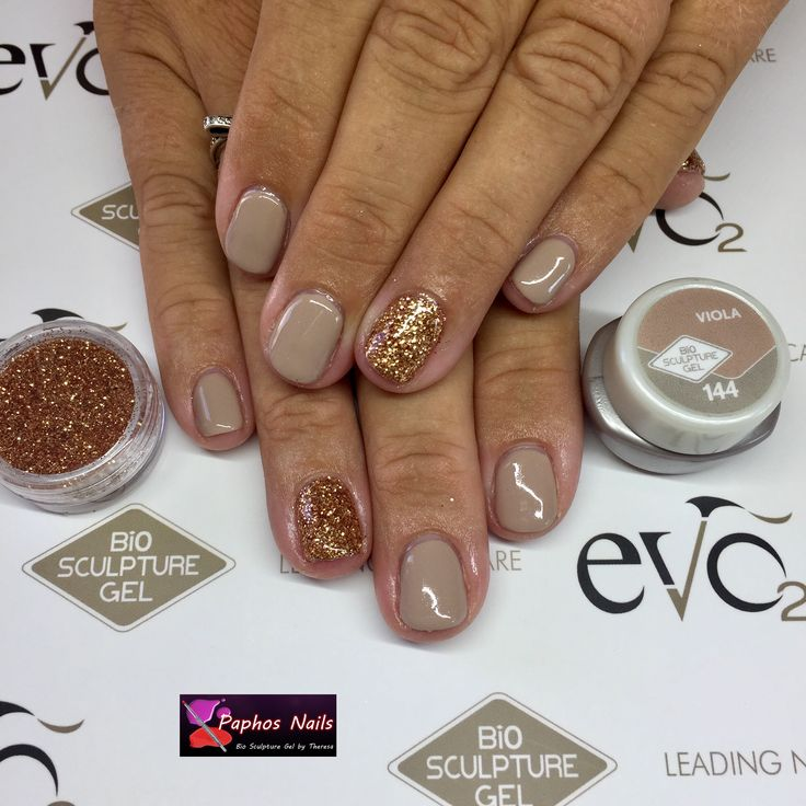 #naturalnails #biosculpturegel #overlay with the lovely #viola #nudecolour with #glitter #softbreeze #biosculpturecyprus #paphosnails #biosculpturebytheresa