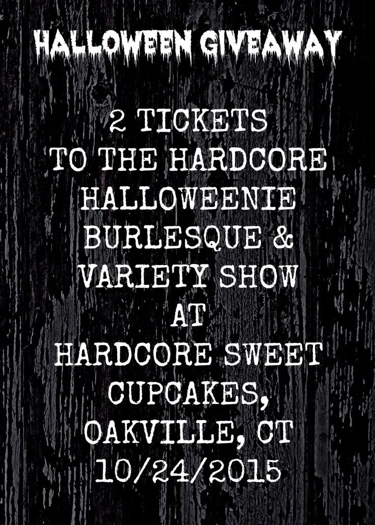 I have partnered with The Desultory Theatre Club to giveaway 2 tickets to The Hardcore Halloweenie Burlesque & Variety Show on 10/24 in Oakville, CT!