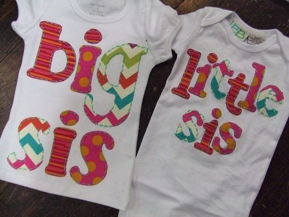 Big Sister shirt hand appliqued big sister girl shirt by EandLuLu, $28.00