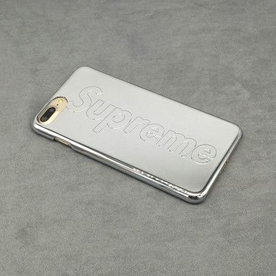 New Fashion Tide Brand SUPREME Plating Anti-Scratch Case For Apple iphone7 7 Plus Ultra Thin Shockproof Hard Back Cover Case