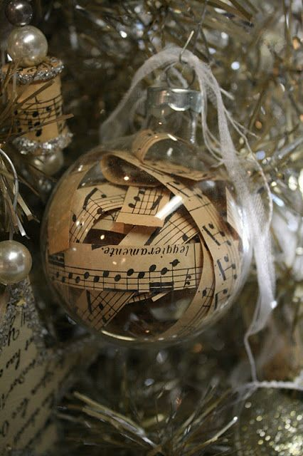 Reloved Rubbish: Sheet Music Christmas Tree