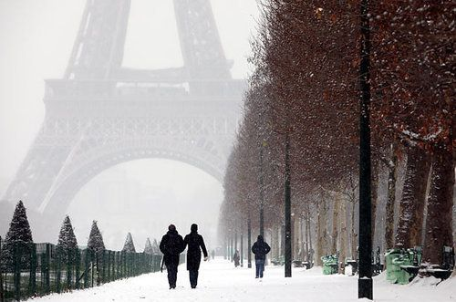 paris in the snow - @Amy Castine, is this what it looks like?