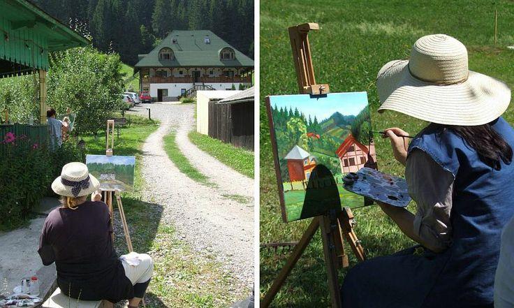 adelaparvu.com despre tabara de pictura Hobby Art
