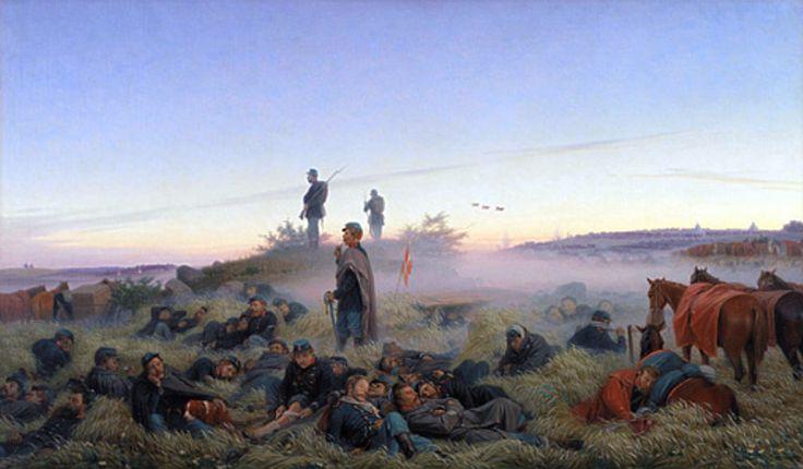 Jørgen Sonne - Morgenen efter slaget ved Isted 25.07.1850 | Painted History | Pinterest
