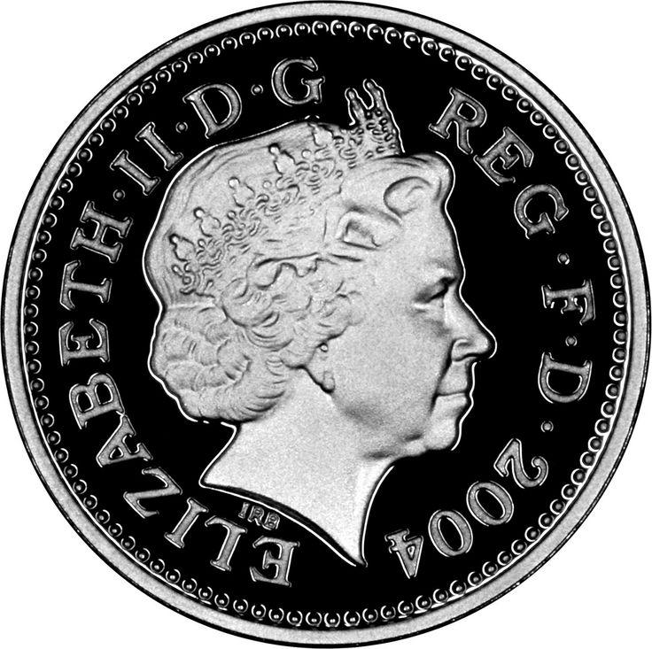2004 Silver Proof Pattern Pound, Obverse.