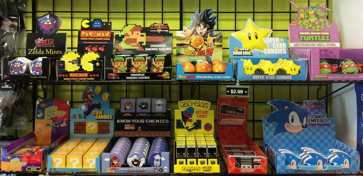 We brought some new Gamer Candy to Gamers Paradise! Ranging from dragon ball z, Mario enemies and so many more! Come check them out! #games #gaming #videogames #candy #candies #gamer #gamers #pacman #mario #sonic #zelda #tmnt #beanboozled