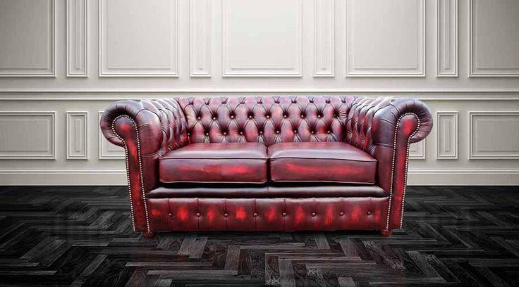 DesignerSofas4U | Oxblood Leather Chesterfield Sofa UK