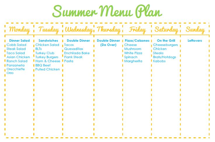 The 25+ best Summer meal planning ideas on Pinterest ...