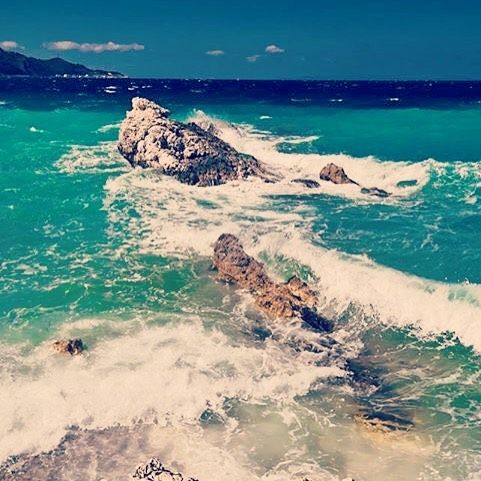 #samos #samosisland #greece #greek #sea #waves #wave #rocks