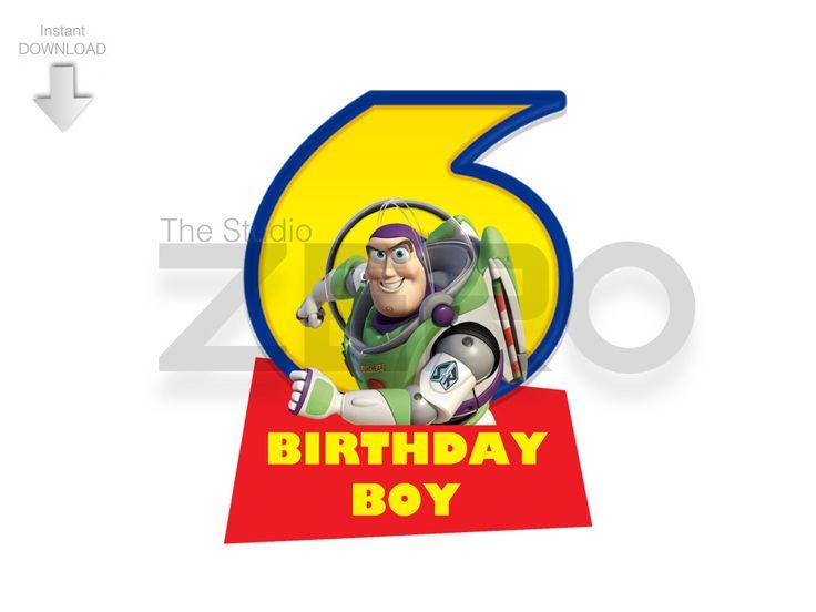 Disney Toy Story - 6th Birthday Boy Digital ClipArt by TheStudioZero on Etsy