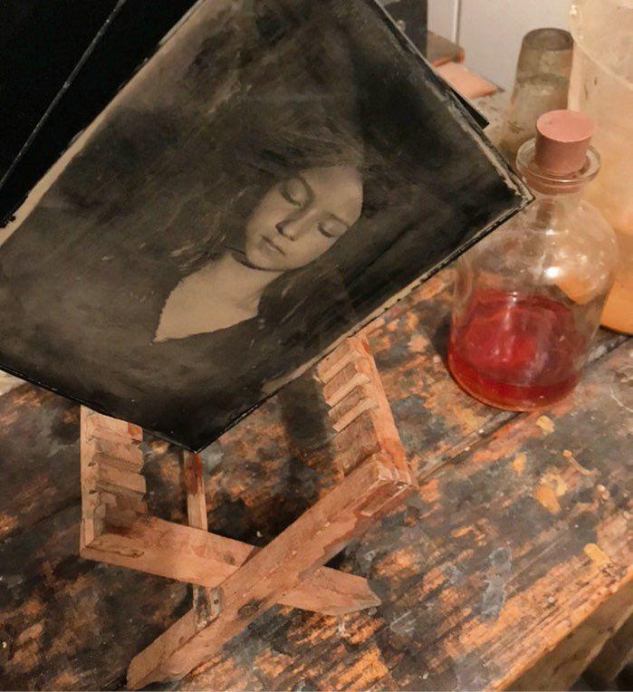 Lost in silver #2 Ambrotype on black glass #kolodium #wetplate #trebic #czechgirl #analogportrait
