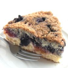 Peachberry Buckle: King Arthur Flour.  I have some nectarines to use and I bet those and blueberries would be great!