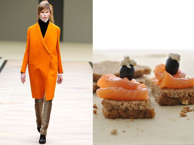 Céline fw 2011-12 / Homemade rye bread with smoked salmon and fresh cheese