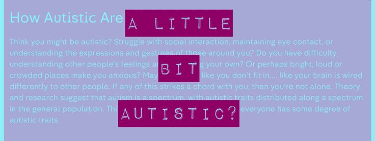 """The UK's Channel 4 is currently promoting its upcoming series 'How autistic are you?'.The blurb asks if you """"think you might be autistic?"""" as a precursor to a wh…"""