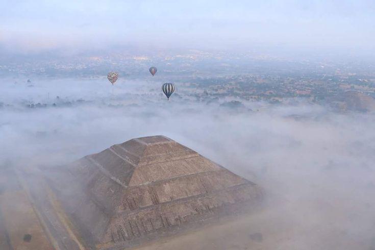 Vuelo en Globo sobre Teotihuacán #aztecatours