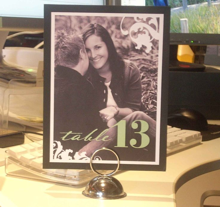 DIY table numbers using a photo and photoshop