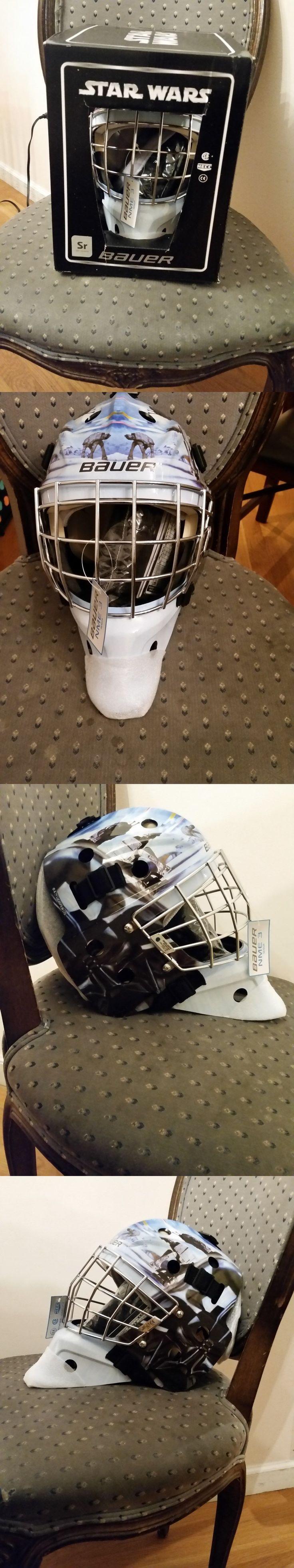 Face Masks 79762: Bauer Senior Nme3 Ice Hockey Goalie Helmet Mask Star Wars Darth Vader Head Sr -> BUY IT NOW ONLY: $139.99 on eBay!