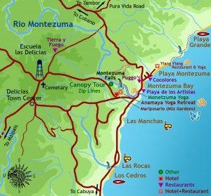 Best of Montezuma Map « Montezuma Costa Rica