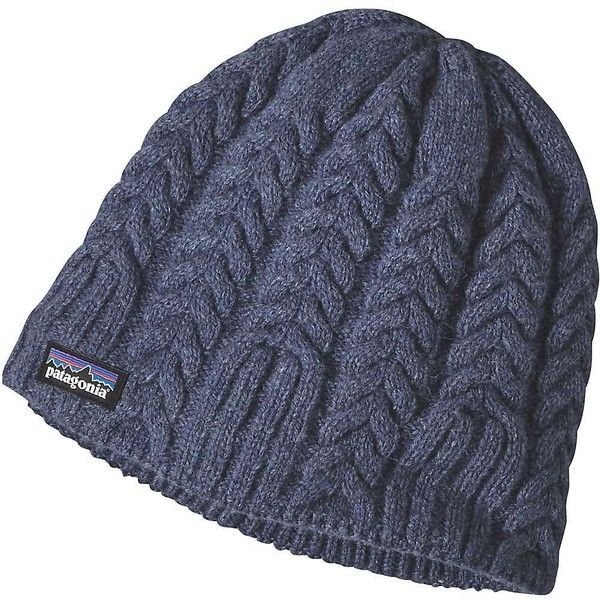Patagonia Women's Cable Beanie ($39) ❤ liked on Polyvore featuring accessories, hats, lupine, cable knit beanie, patagonia, beanie cap hat, cable knit hat and cable beanie