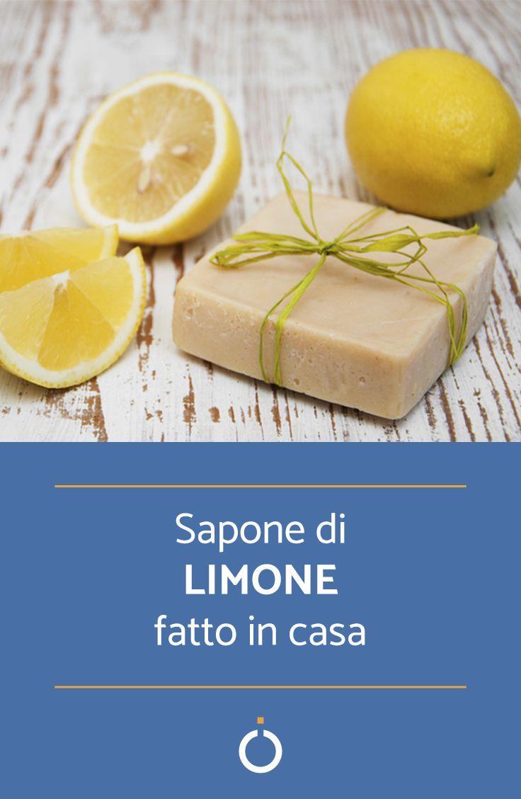 Ricetta e procedimento per fare il sapone fatto in casa al limone #faidate #diy #sapone #fattoincasa #homemade #soap #soapmaking #lemon #lemons