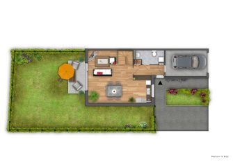 Plan de vente 2D de maison