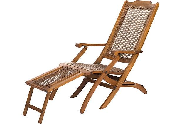 Reclining Steamer Chair on OneKingsLane.com