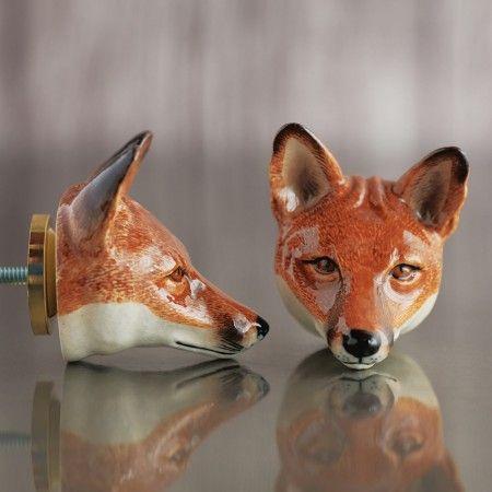 Fox Head Ceramic Knob - Door Knobs, Handles & Hooks - Treat Your Home - Home Accessories