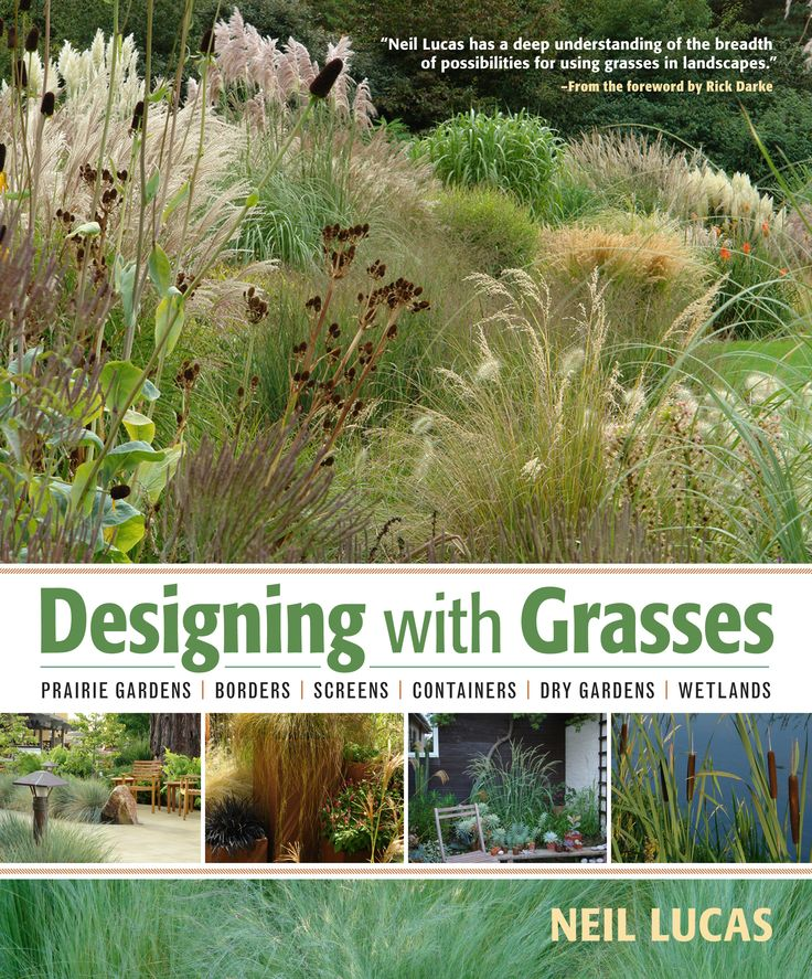 The only book you'll need for designing borders, screens, prairies, containers, and wetland areas with grasses. By Neil Lucas, published by Timber Press.