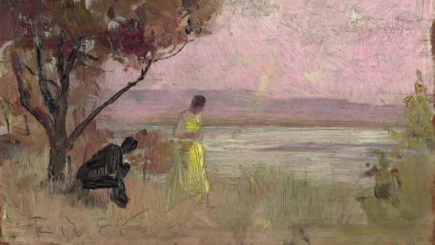 He's best known for his big, bold works, yet artist Tom Roberts' reputation was born from paintings of a more modest size.
