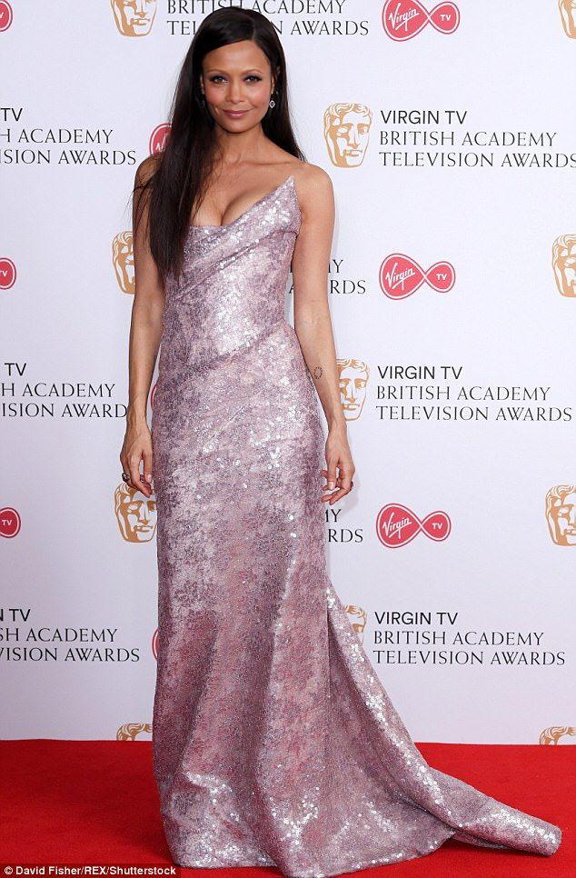Thandie Newton recently swept on to the red carpet in a strapless gown that showed off her toned upper body and shoulders