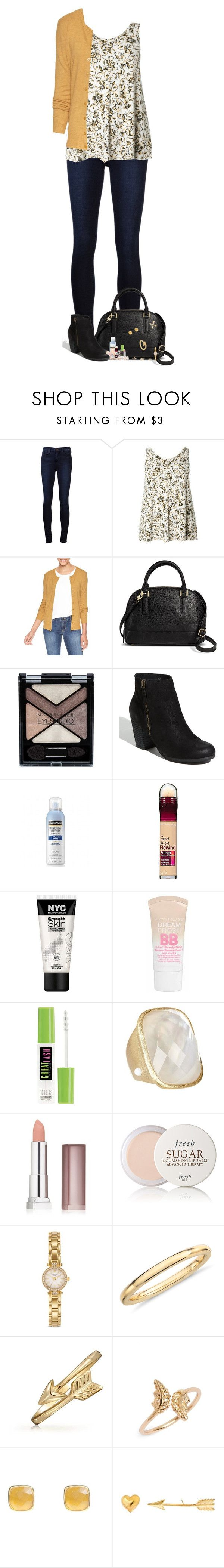 """""""There Wasn't A Wrong Or A Right He Could Choose"""" by nessiecullen2286 ❤ liked on Polyvore featuring J Brand, Evans, Merona, Maybelline, BP., Neutrogena, Rivka Friedman, Fresh, Kate Spade and Blue Nile"""