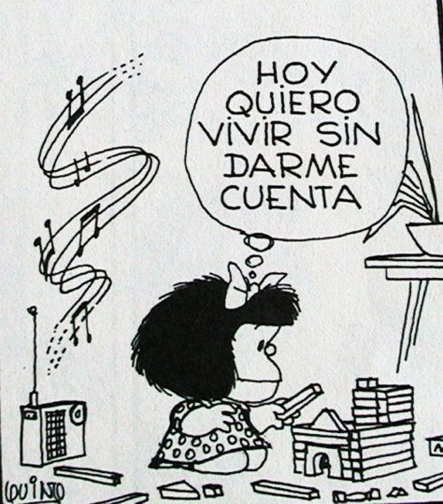 Mafalda! Me representando fazendo maquete