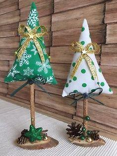 2 Weihnachtsbäume im skandinavischen Stil, Tilda Art, Deko, Herbst, Winter, Impressionen #WoodWorking