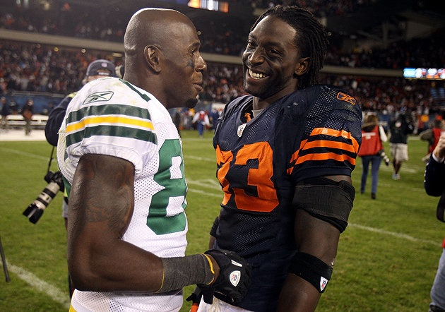 Charles Tillman's Bears have been 'schooled' far too often by Donald Driver's Packers in recent years. (Getty)
