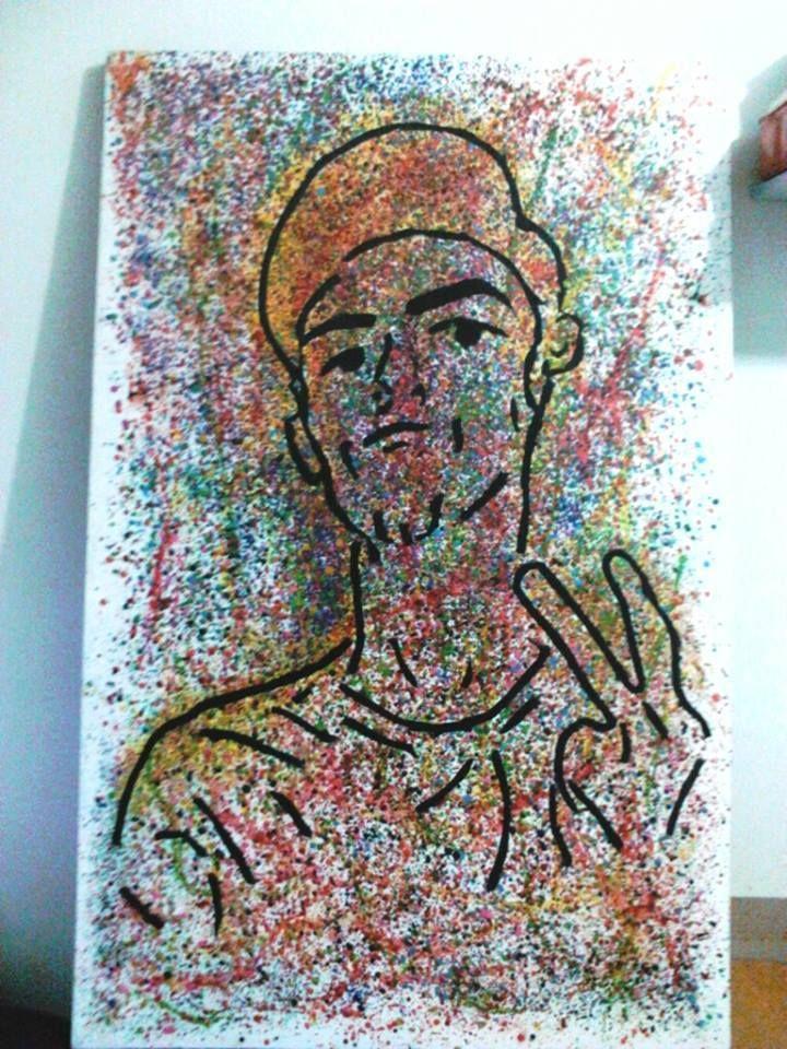fotografía echa con crayola derretida