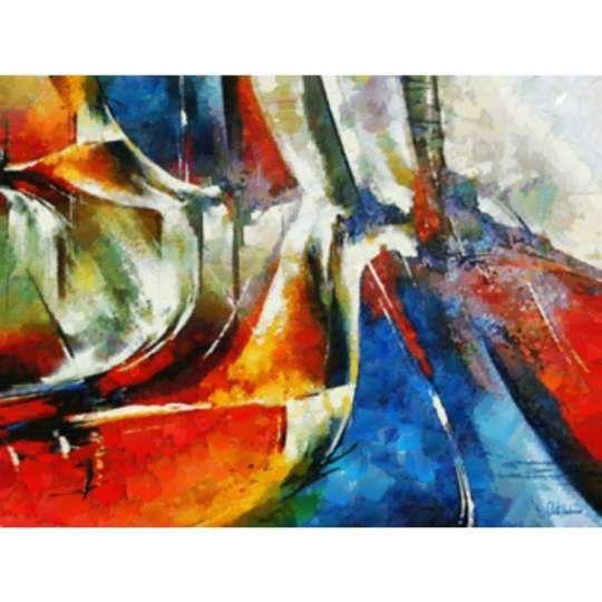 CM9310 -Tam G - Abstrato em Canvas de Celito Medeiros 120 X 90 cm